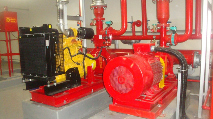 Installation of pumping stations fire protection system